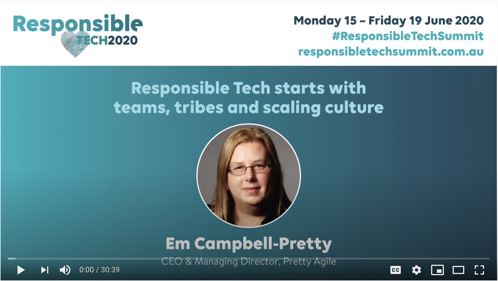 Responsible Tech Start with Culture